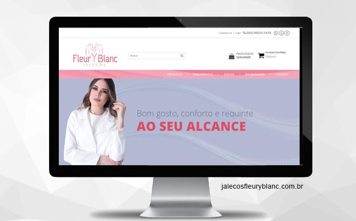 Loja Jalecos Fleury Blanc