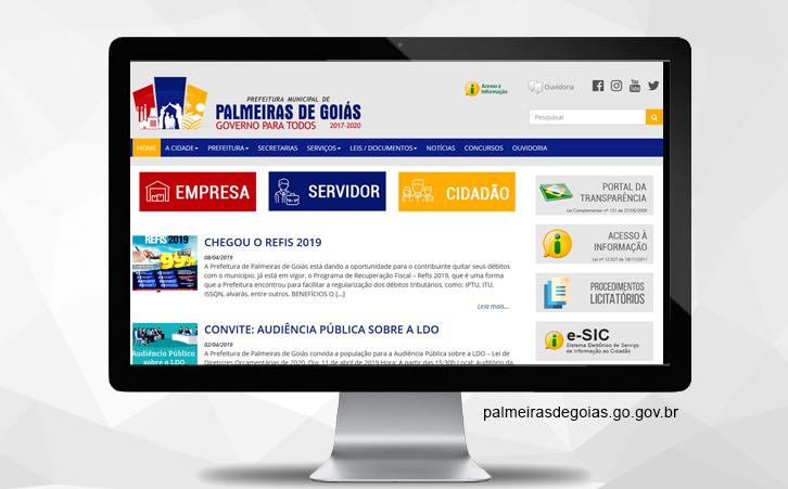 Portal Prefeitura de Palmeiras de Goiás