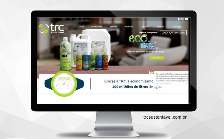Site Franquia TRC Sustentável